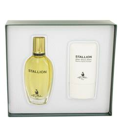 Stallion Cologne by Larry Mahan -- Gift Set - 1.7 oz Eau De Cologne Spray + 2 oz After Shave Balm