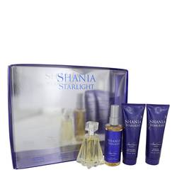 Shania Starlight Perfume by Stetson -- Gift Set - 1.7 oz Eau De Toilette Spray + 4 oz Body Mist + 4 oz Shimmer Body Lotion + 4 oz Shower Gel