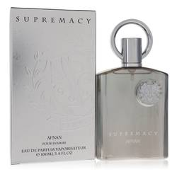 Supremacy Silver Cologne by Afnan, 3.4 oz Eau De Parfum Spray for Men