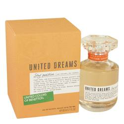 United Dreams Stay Positive Perfume by Benetton, 80 ml Eau De Toilette Spray for Women from FragranceX.com