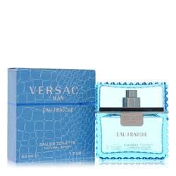 Versace Man Cologne by Versace 1.7 oz Eau Fraiche Eau De Toilette Spray (Blue)