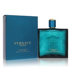 Versace Eros Cologne by Versace, 200 ml Eau De Toilette Spray for Men
