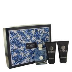 Versace Pour Homme Cologne by Versace -- Gift Set - 1.7 oz Eau De Toilette Spray + 1.7 oz Hair & Body Shampoo + 1.7 After Shave Balm