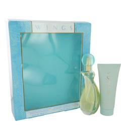 Wings Perfume by Giorgio Beverly Hills -- Gift Set - 3 oz Eau De Toilette Spray + 3.4 oz Body Moisturizer