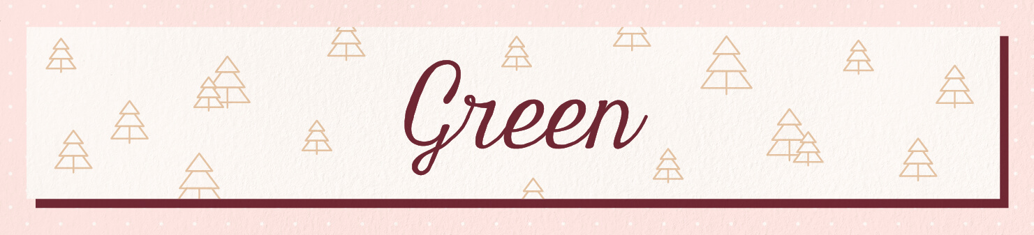 green wedding scents header image