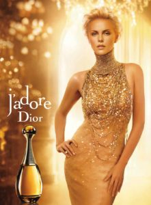 Charlize Theron wears J'Adore by Dior