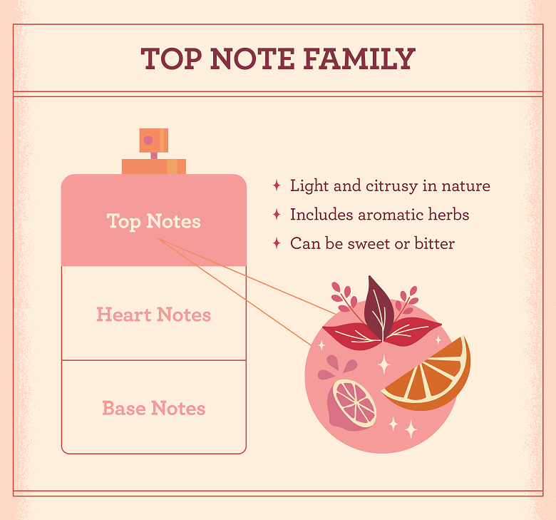 illustration with the characteristics of the top note family