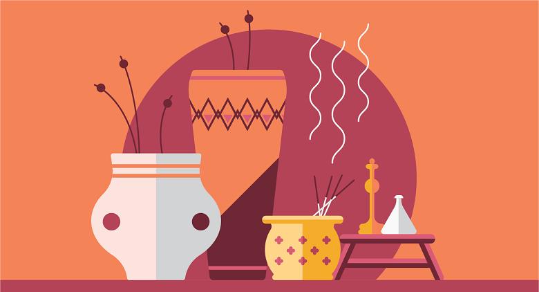 illustration of ancient perfume making methods