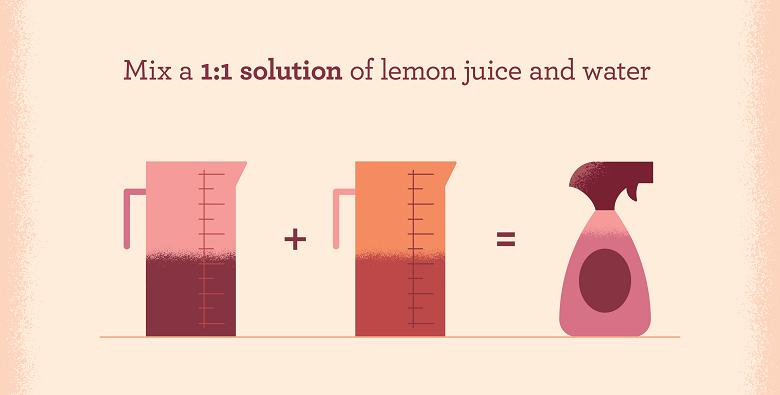 Solution to make lemon juice cleaner