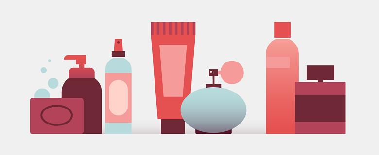 illustration of perfume bottles