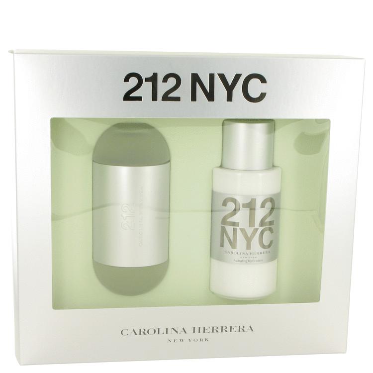 212 by Carolina Herrera for Women Gift Set -- 3.4 oz Eau De Toilette Spray + 6.7 oz Body Lotion