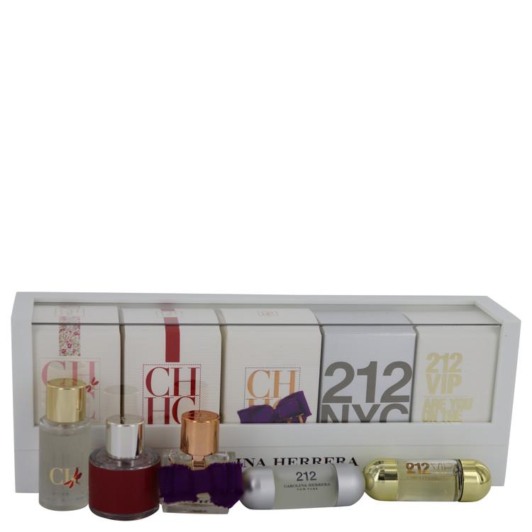 212 by Carolina Herrera for Women Gift Set -- Mini Set includes 212, 212 VIP, CH, CH Eau de Parfum Sublime, and CH L'eau in beau