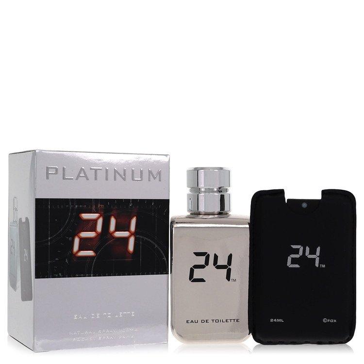 24 Platinum The Fragrance Eau De Toilette Spray + 0.8 oz Mini Pocket Spray By Sc