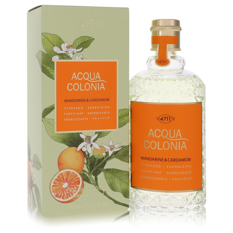 4711 Acqua Colonia Mandarine and Cardamom Eau De Cologne Spray (Unisex) By Maurer and Wirtz 5.7oz