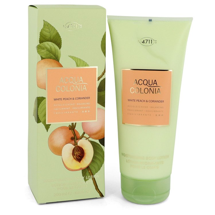 4711 Acqua Colonia White Peach and Coriander Body Lotion By Maurer and Wirtz 6.8oz