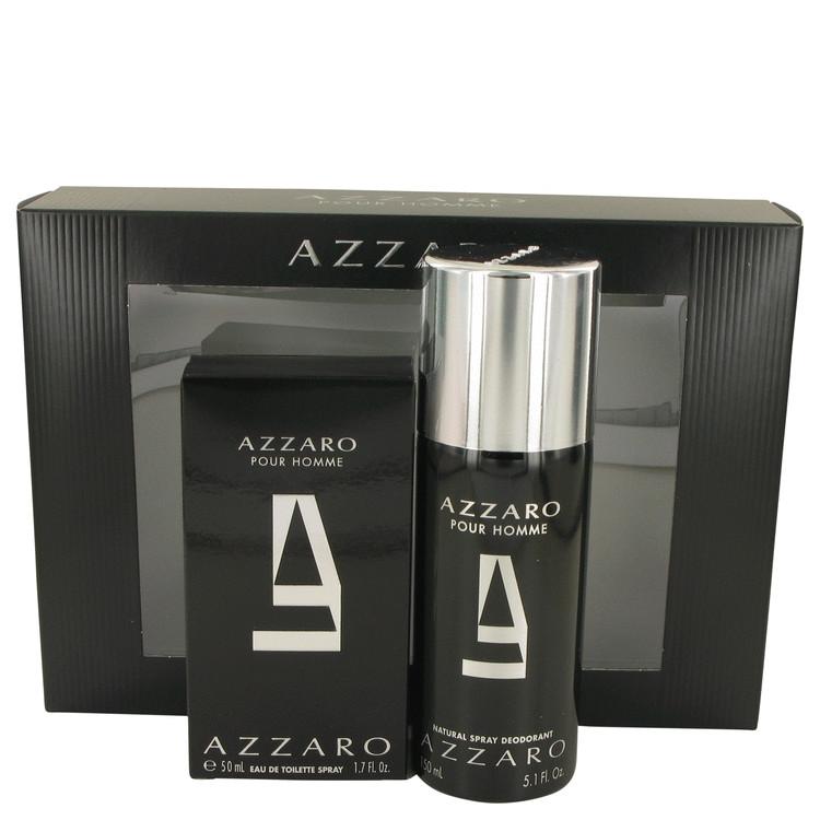 AZZARO by Loris Azzaro for Men Gift Set -- 1.7 oz Eau De Toilette Spray + 5 oz Deodorant Spray