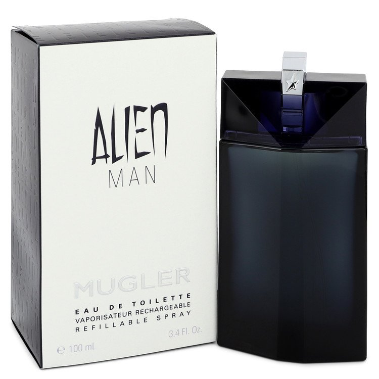 Alien Man Eau De Toilette Refillable Spray By Thierry Mugler 3.4oz