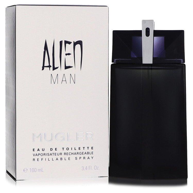 Alien Man Eau De Toilette Refillable Spray By Thierry Mugler 3.4oz