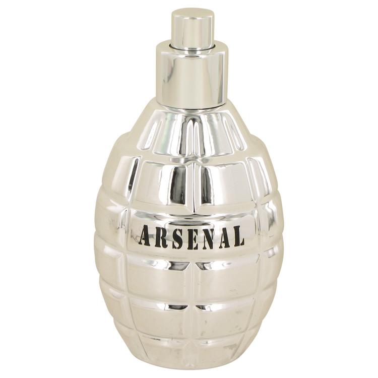 Arsenal Platinum Eau De Parfum Spray (Tester) By Gilles Cantuel 3.4oz