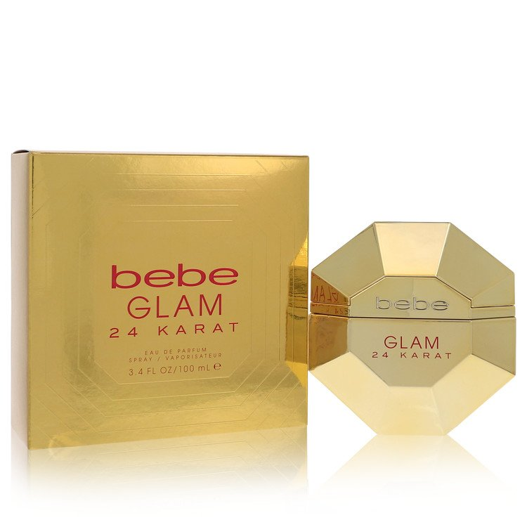 Bebe Glam 24 Karat Eau De Parfum Spray By Bebe 3.4oz
