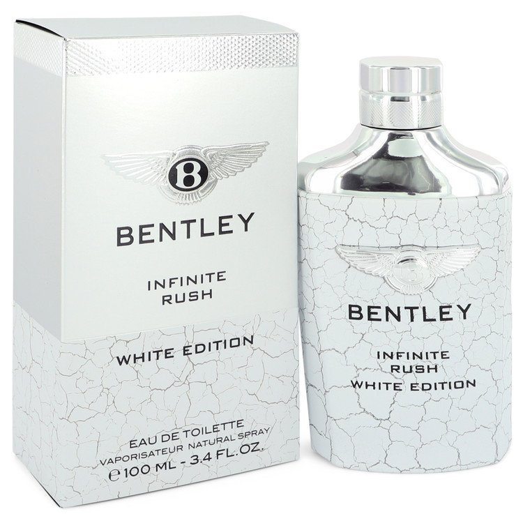 Bentley Infinite Rush Eau De Toilette Spray (White Edition) By Bentley 3.4oz