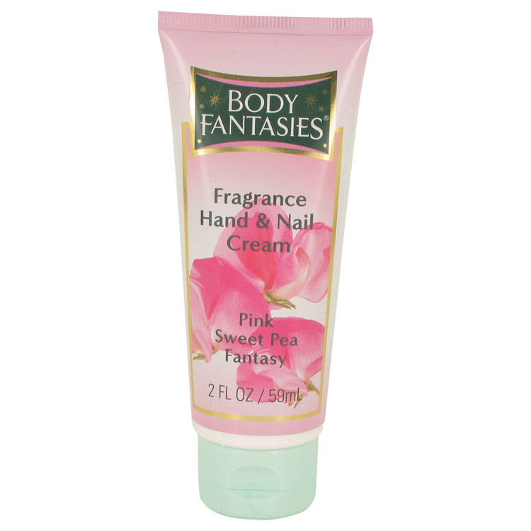 Body Fantasies Signature Pink Sweet Pea Fantasy Hand and Nail Cream By Parfums De Coeur 2.0oz
