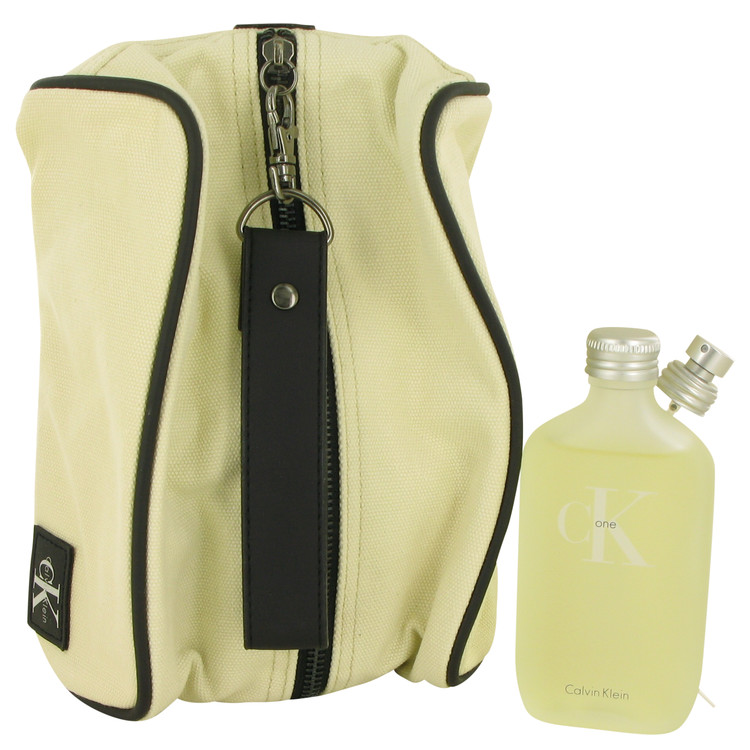 CK ONE by Calvin Klein for Women Gift Set -- 3.4 oz Eau De Toilette Spray + Toiletry Bag