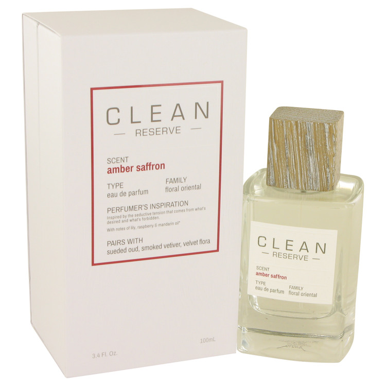 Clean Amber Saffron Eau De Parfum Spray By Clean 100ml
