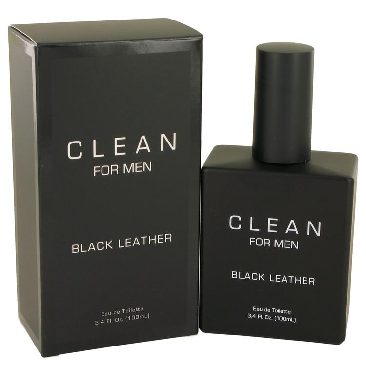 Clean Black Leather Eau De Toilette Spray By Clean 100ml