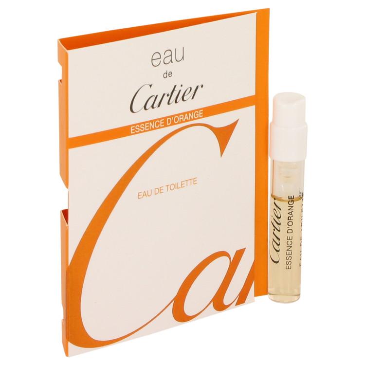 Eau De Cartier Essence D'Orange by Cartier for Men Vial (sampe) .05 oz