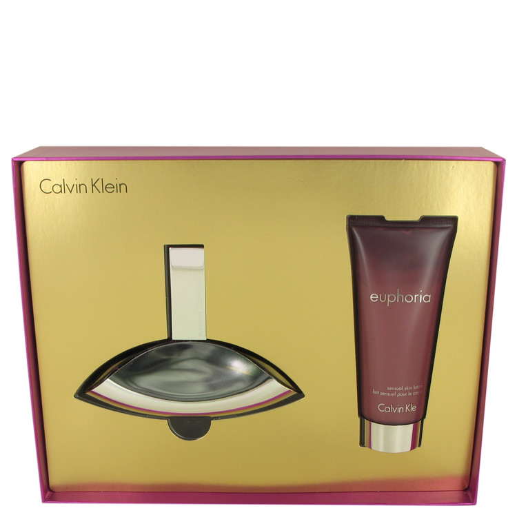 Euphoria by Calvin Klein for Women Gift Set -- 3.4 oz Eau De Parfum Spray + 3.4 oz Sensual Skin Lotion