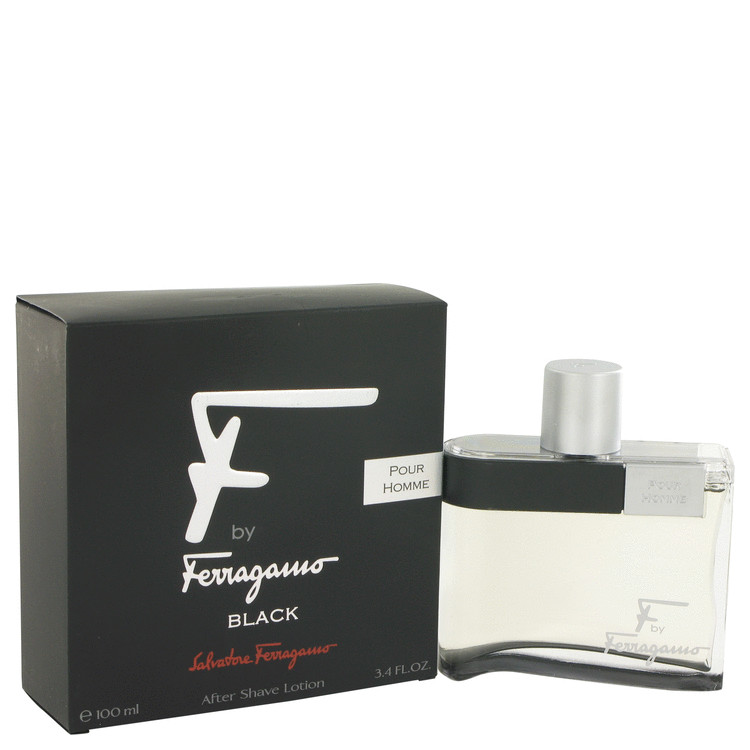 F Black After Shave Lotion By Salvatore Ferragamo 100ml