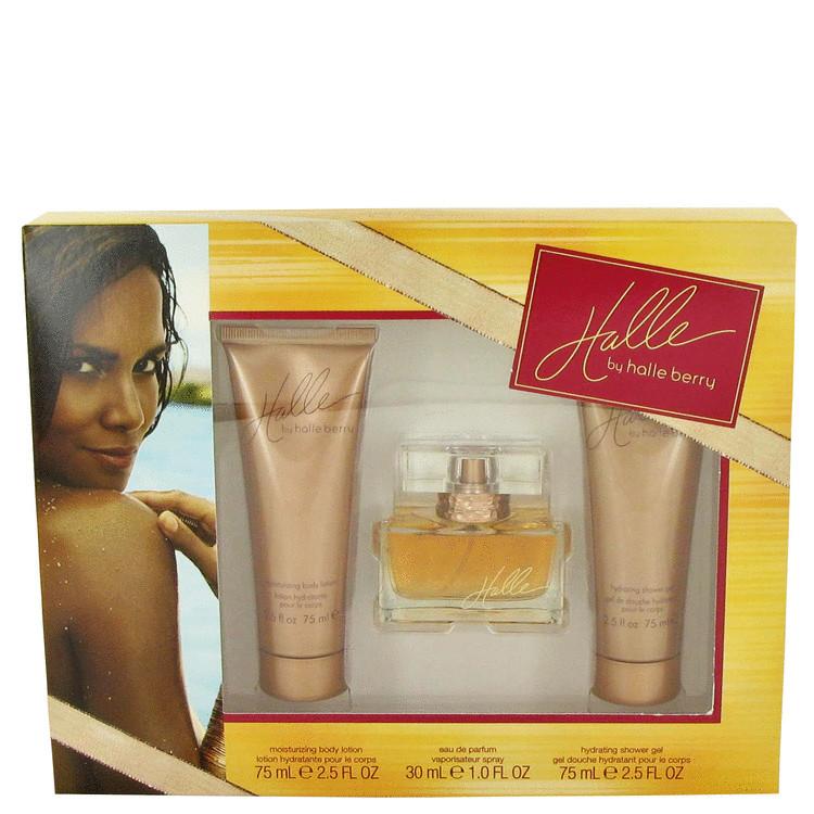 Halle by Halle Berry for Women Gift Set -- 1 oz Eau De Parfum + 2.5 oz Body Lotion + 2.5 oz Shower Gel