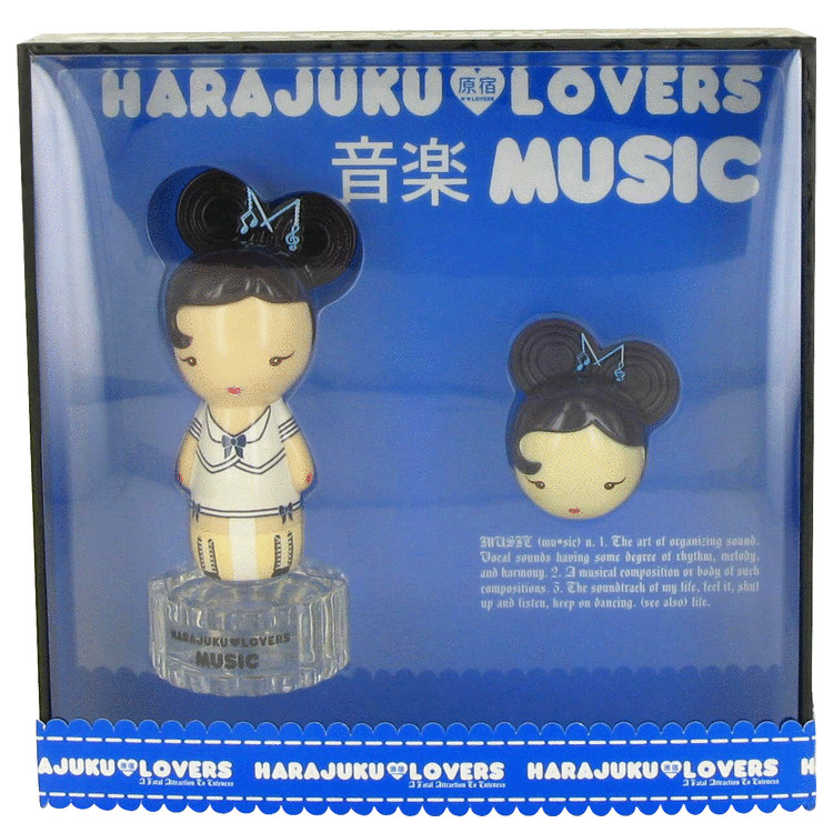 Harajuku Lovers Music by Gwen Stefani for Women Gift Set -- 1 oz Eau De Toilette Spray + Solid Pefume