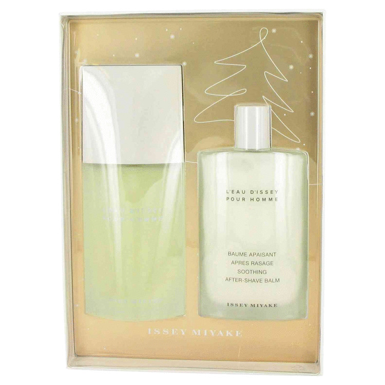 L'EAU D'ISSEY (issey Miyake) by Issey Miyake for Men Gift Set -- 4.2 oz Eau De Toilette Spray + 3.4 oz After Shave Balm