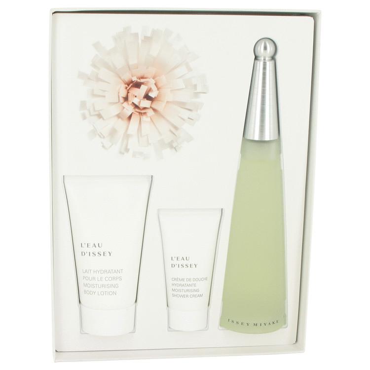 L'EAU D'ISSEY (issey Miyake) by Issey Miyake for Women Gift Set -- 3.3 oz Eau De Toilette Spray + 2.5 oz Body Lotion + 2.5 oz Sh