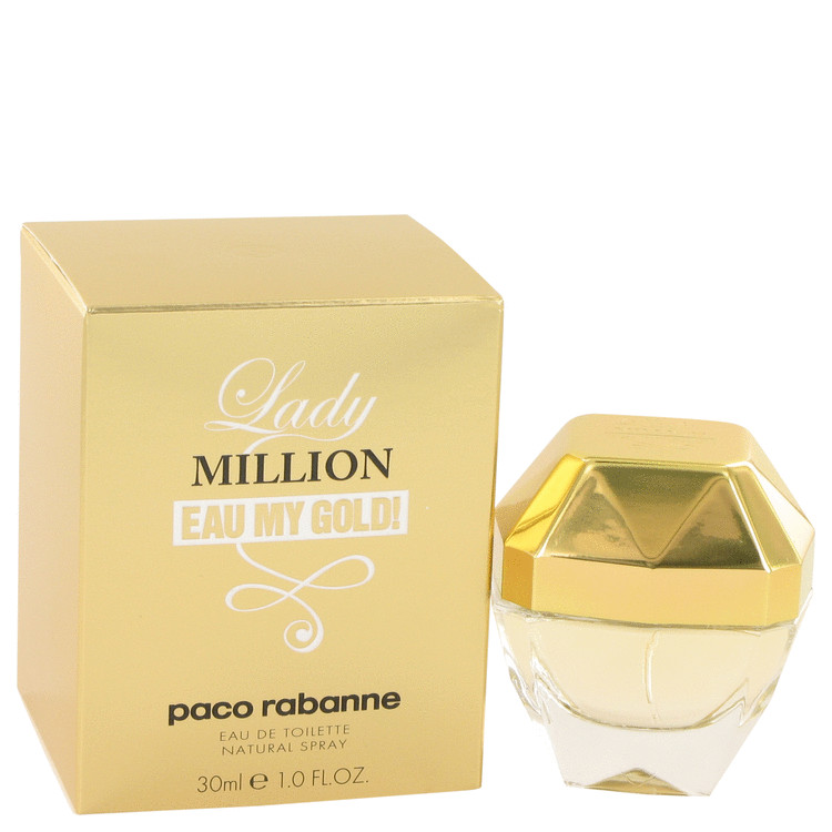 Lady Million Eau My Gold Eau De Toilette Spray By Paco Rabanne 30ml