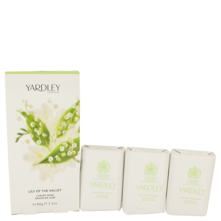 Lily of The Valley Yardley by Yardley London for Women 3 x 3.5 oz Soap 3.5 oz