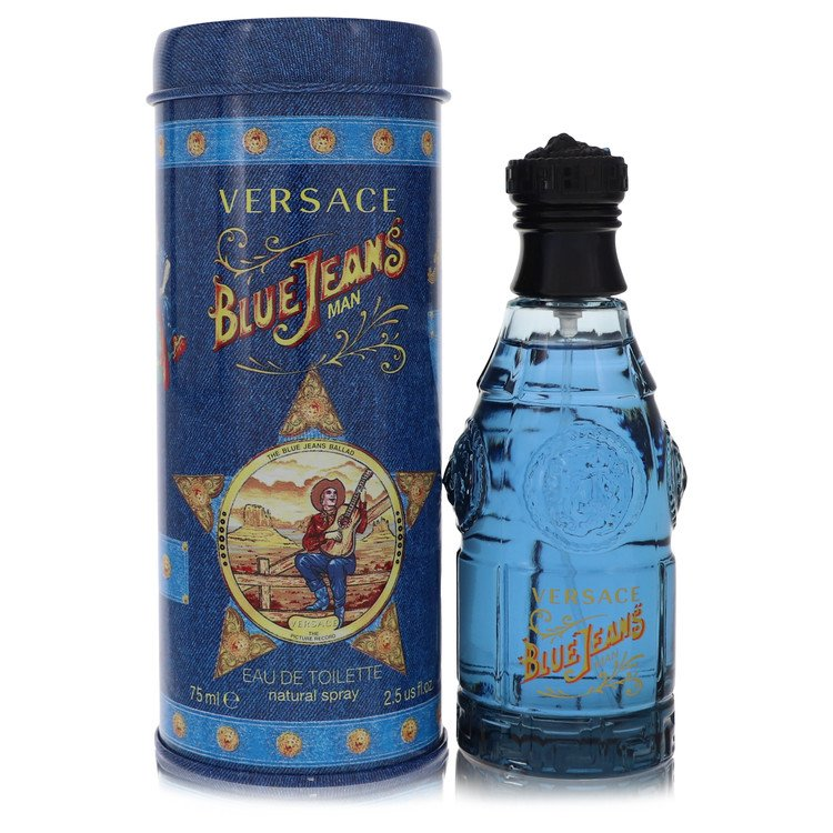 Blue Jeans Eau De Toilette Spray (New Packaging) By Versace 2.5oz