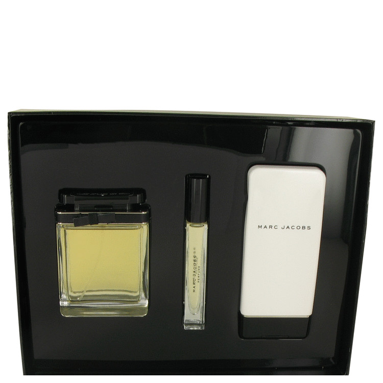 MARC JACOBS by Marc Jacobs for Women Gift Set -- 3.4 oz Eau De Parfum Spray + 5.1 oz Body Lotion + .34 oz EDP Roller Ball
