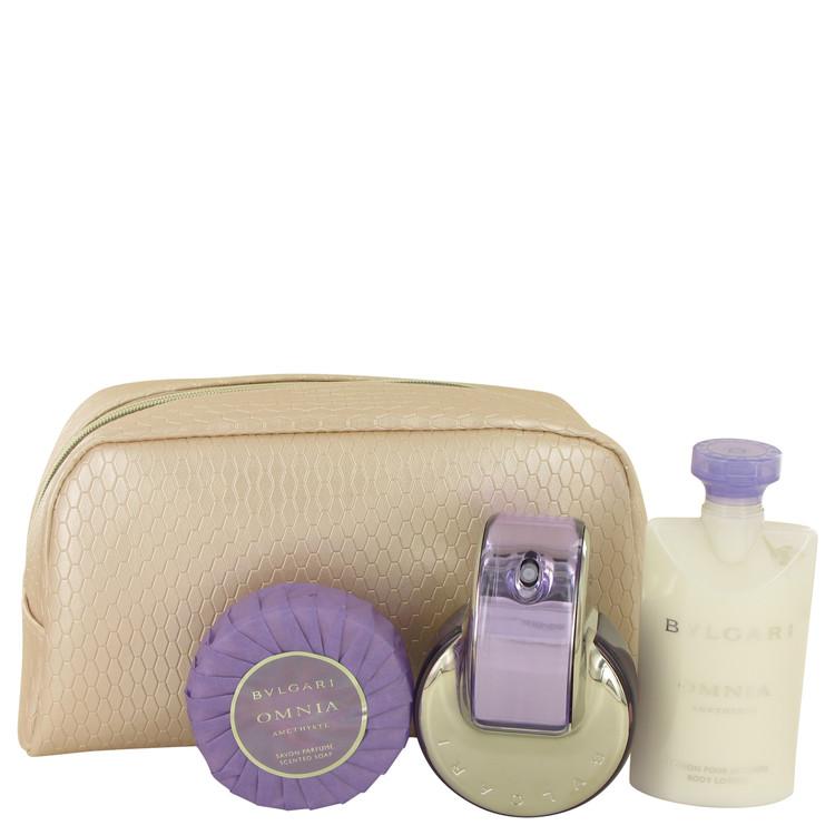Omnia Amethyste by Bvlgari for Women Gift Set -- 2.2 oz Eau De Toilette Spray + 2.5 oz Body Lotion + 2.6 oz Scented Soap + Beaut