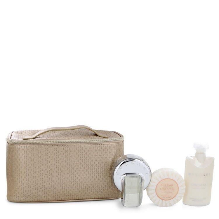OMNIA CRYSTALLINE by Bvlgari for Women Gift Set -- 2.2 oz Eau De Toilette Spray + 2.5 oz Body Lotion + 2.6 oz Scented Soap + Bea