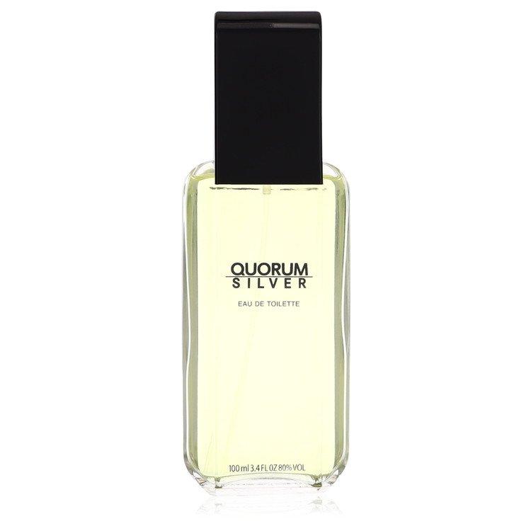 Quorum Silver by Puig for Men Eau De Toilette Spray (unboxed) 3.4 oz