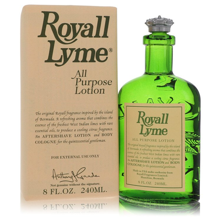 Royall Lyme All Purpose Lotion / Cologne By Royall Fragrances 240ml