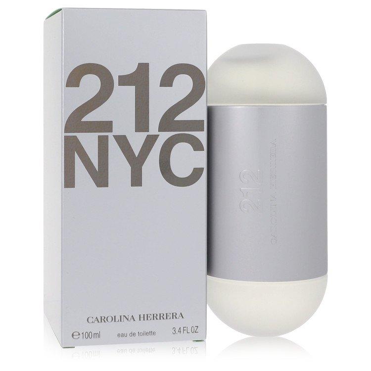 212 Eau De Toilette Spray (New Packaging) By Carolina Herrera 3.4oz