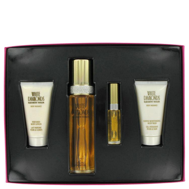 WHITE DIAMONDS by Elizabeth Taylor for Women Gift Set -- 3.4 oz Eau De Toilette Spray + 1.7 oz Body Wash + 1.7 oz Body Lotion +