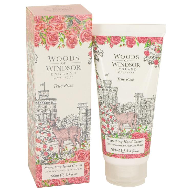 True Rose by Woods of Windsor for Women Hand Cream 3.4 oz