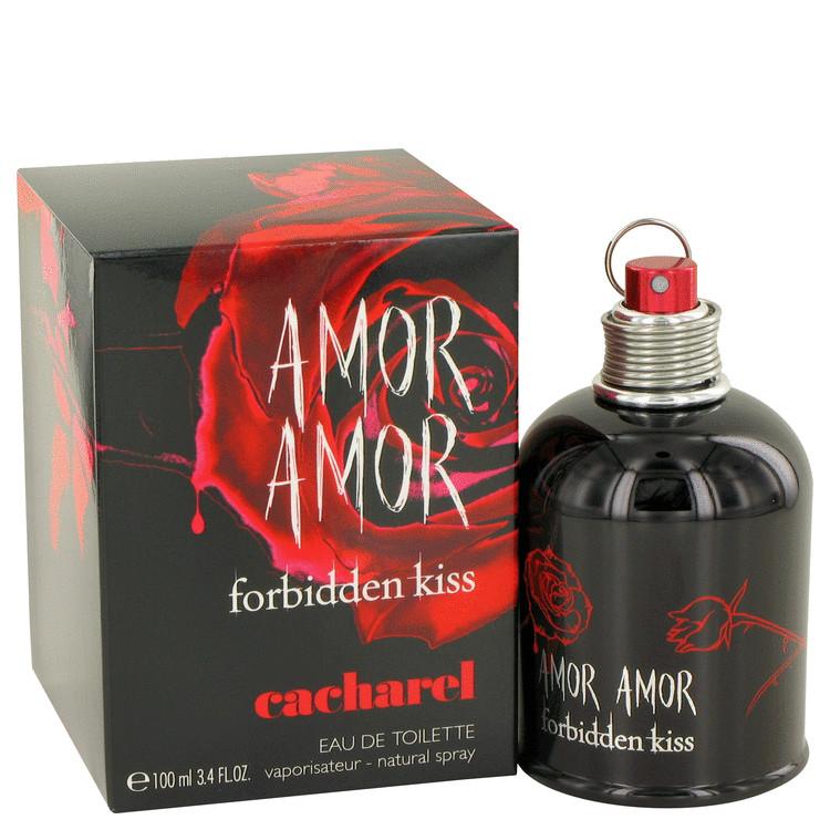 Amor Amor Forbidden Kiss by Cacharel for Women Eau De Toilette Spray 3.4 oz