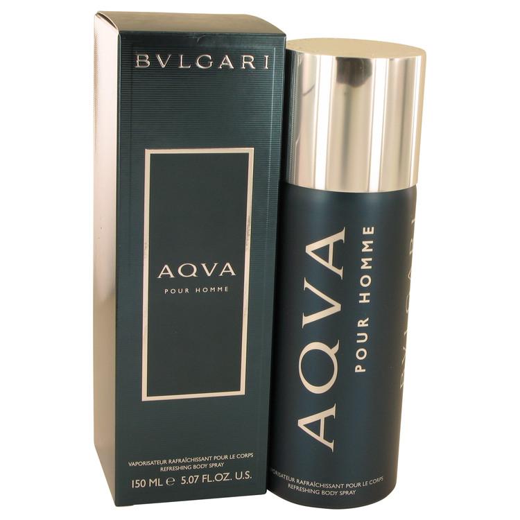 AQUA POUR HOMME by Bvlgari for Men Body Spray 5 oz