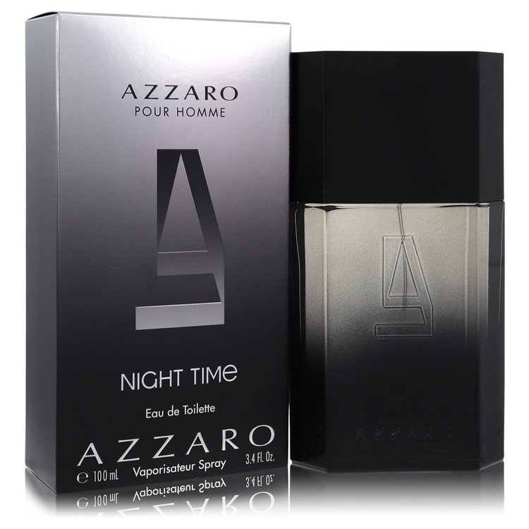 Azzaro Night Time by Loris Azzaro for Men Eau De Toilette Spray 3.4 oz
